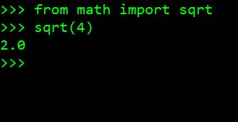 Calculating Python Square Root of a Positive Integer