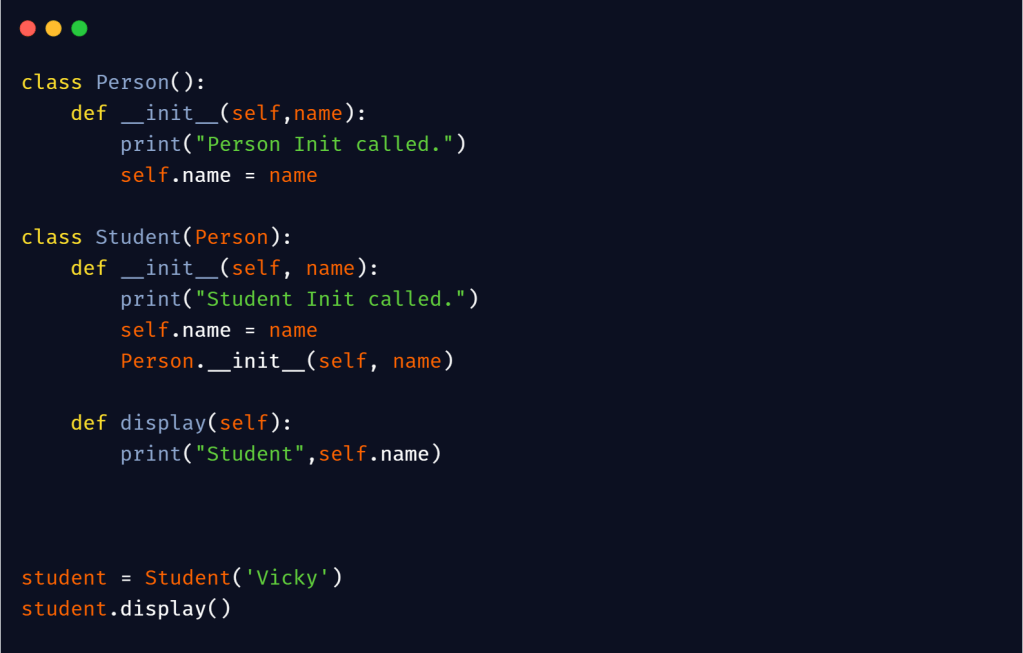 __init__ in python