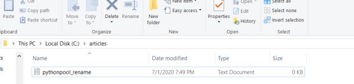 python rename file