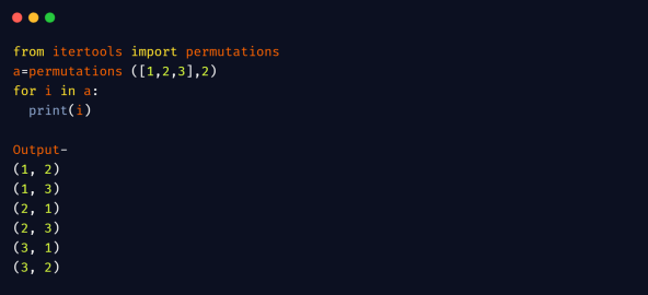 python permutations