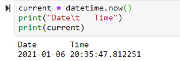 To get current date & time in Python using dateutil