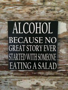 alcohol no salad