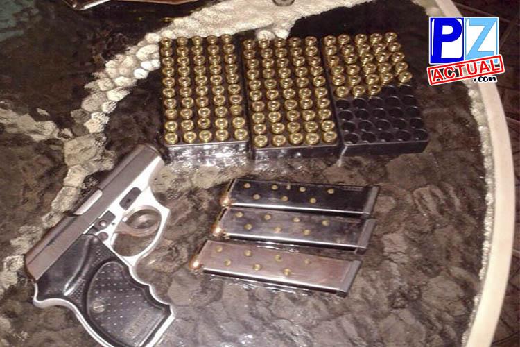 Fuerza Pública decomisa más de 150 municiones y un arma de fuego a extranjero.