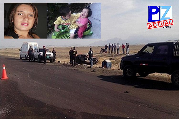 Muere Generaleña junto a sus dos pequeños hijos en accidente de tránsito en Perú.