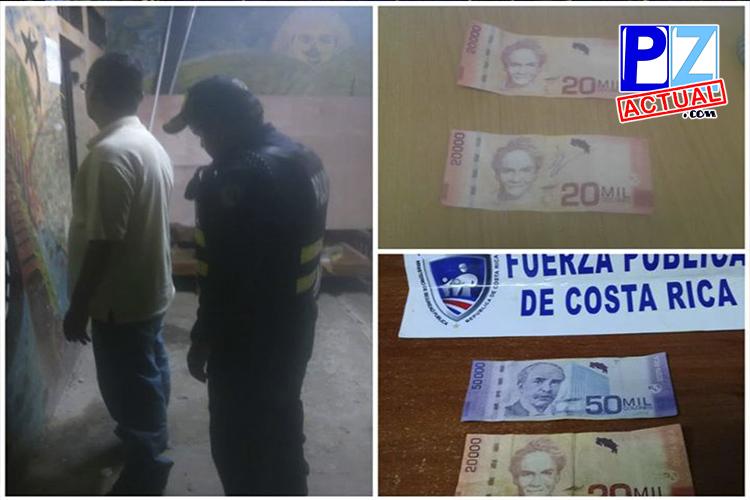 Detienen a tres personas que usaban billetes falsos en Zona Sur y Zona de Los Santos.