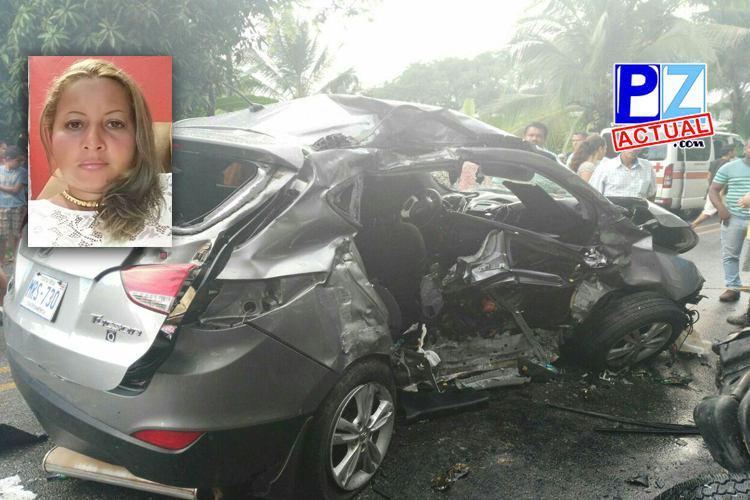 Educadora falleció la tarde de ayer en un aparatoso accidente en Piedras Blancas de Osa.