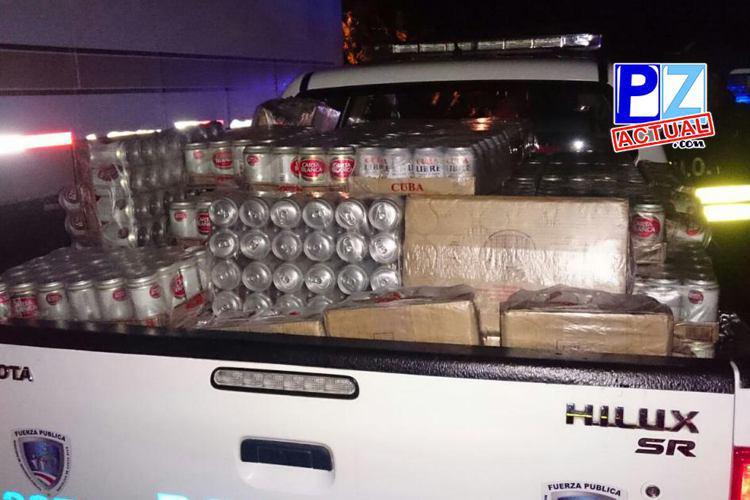 Fuerza Pública decomisó el año pasado más de 7400 cervezas en Zonas Sur del país.