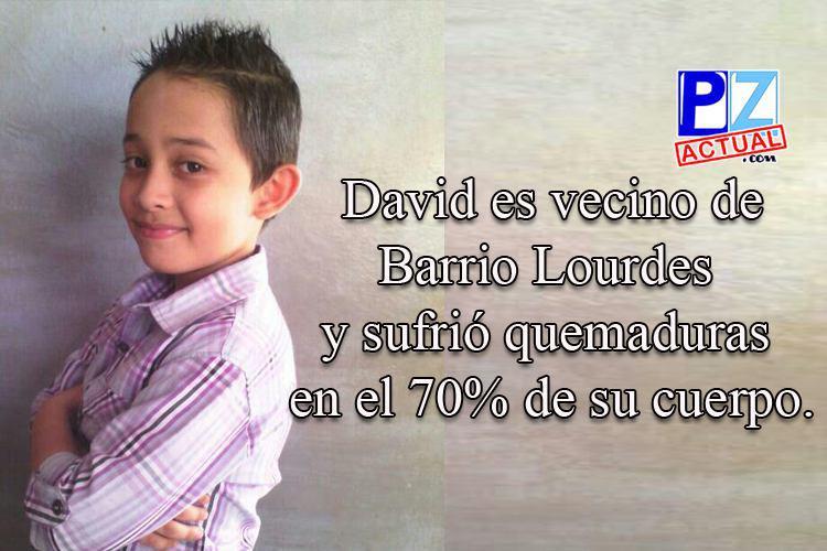 Quemaduras en el 70% de su cuerpo no le roban las ganas de vivir a niño de Barrio Lourdes.