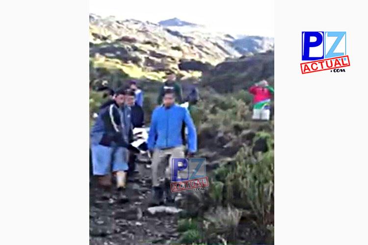 Rescatan a persona impactada por rayo en el Chirripó.