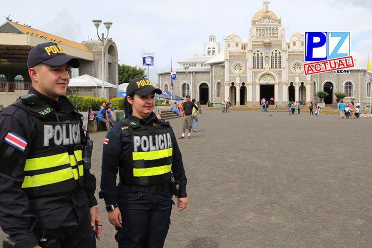 Fuerza Pública lista para velar por la seguridad de los romeros.