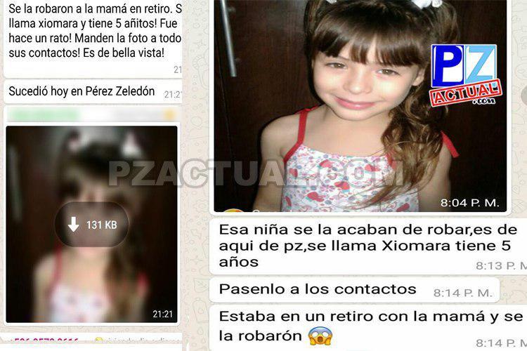 ¿En Pérez Zeledón o Bella Vista? ¿De verdad desapareció la menor? Las cadenasen redes sociales.
