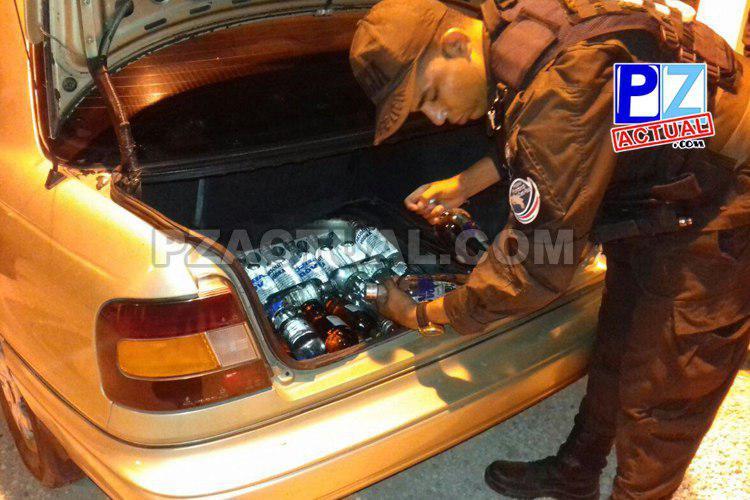 Policía de Fronteras decomisó contrabandos de licor en la Zona Sur del país.