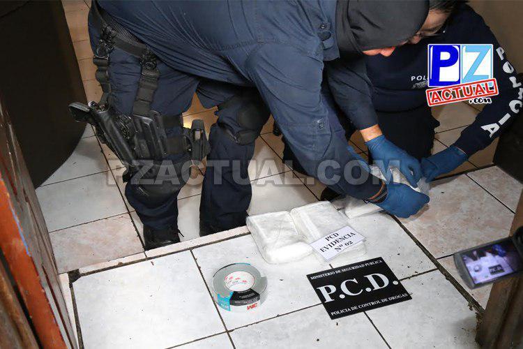 Detienen a panameño con carga de cocaína en vuelo interno procedente de Golfito.