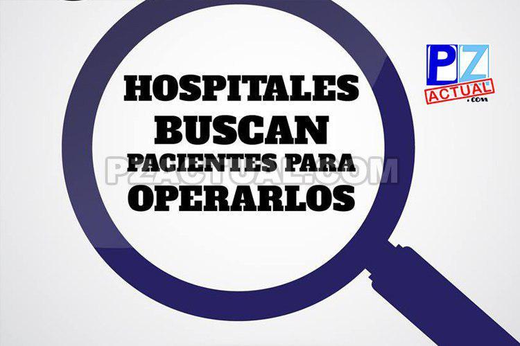 Hospitales San Rafael de Alajuela, México, Calderón Guardia y San Juan de Dios, buscan pacientes para operarlos.