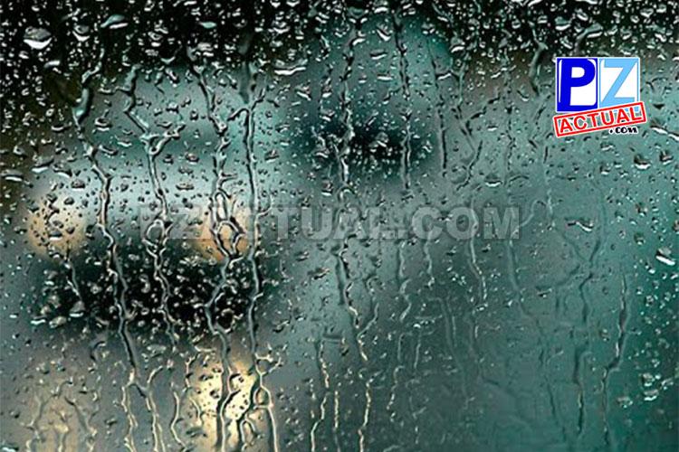 Actividad lluviosa intensa y tormentas eléctricas es el pronóstico del tiempo para hoy.