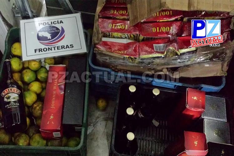 Policía de Fronteras ha decomisado más de 400 millones de colones en licores contrabandeados desde Panamá.