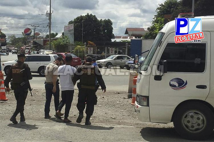 Policía de Fronteras captura a presunto asaltante panameño que huyó a suelo nacional.