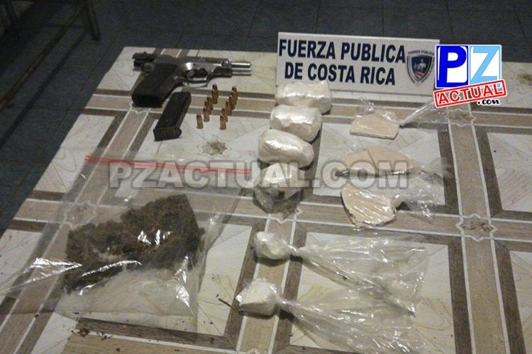 Operativos en los últimos días permiten fuertes golpes al tráfico local de drogas en el Pacífico Central.