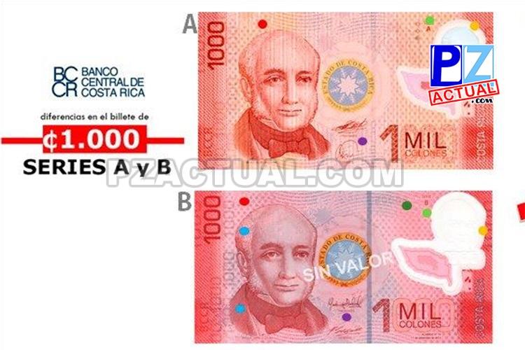 Banco Central desmiente que diferencias en billetes de ₡1.000 correspondan a falsificaciones.