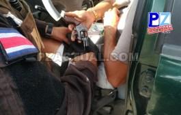Policía de Fronteras decomisó armas y crack a cinco sujetos en Guaycará de Golfito.