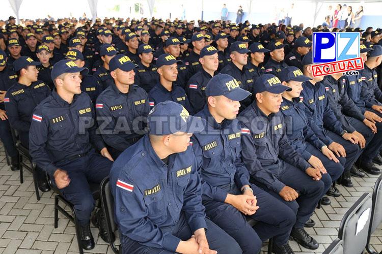 Seguridad Pública entrega a Costa Rica grupo de nuevos policías.