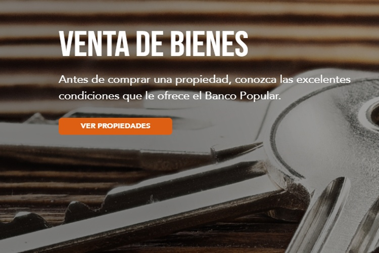Banco Popular, venta de propiedades, www.pzactual.com