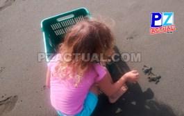 Don Milo y su hijita, una misión de héroes protectores de las tortugas marinas en Quepos.
