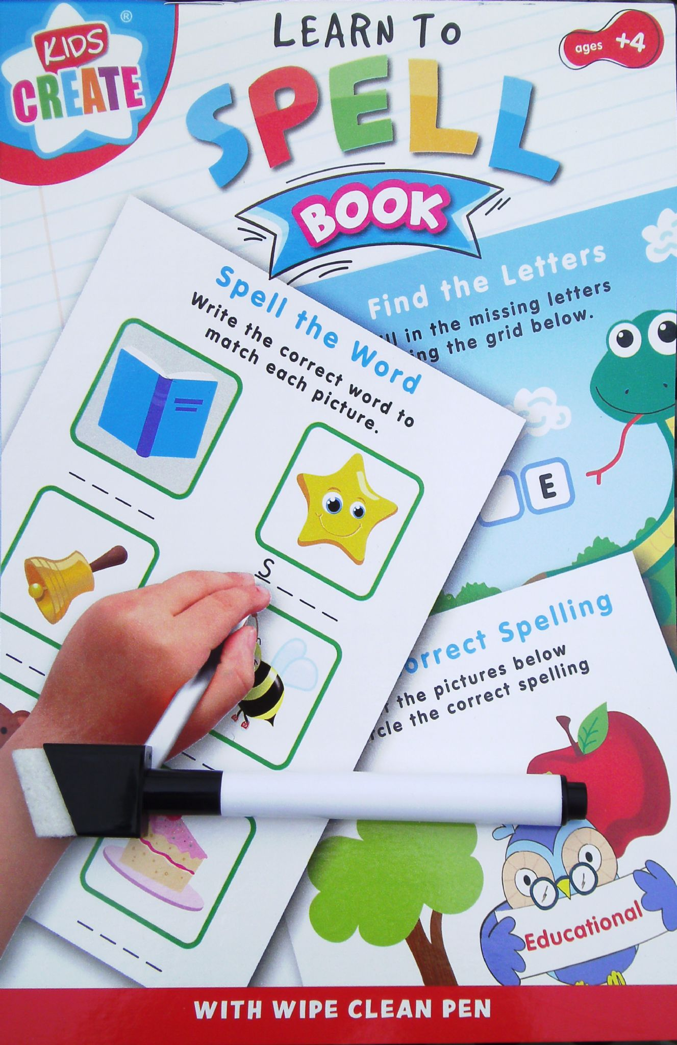 Learn To Educational Wipe Clean Book Spelling Worksheets