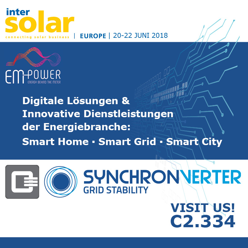 Intersolar EM Power 20.-22. Juni 2018, München