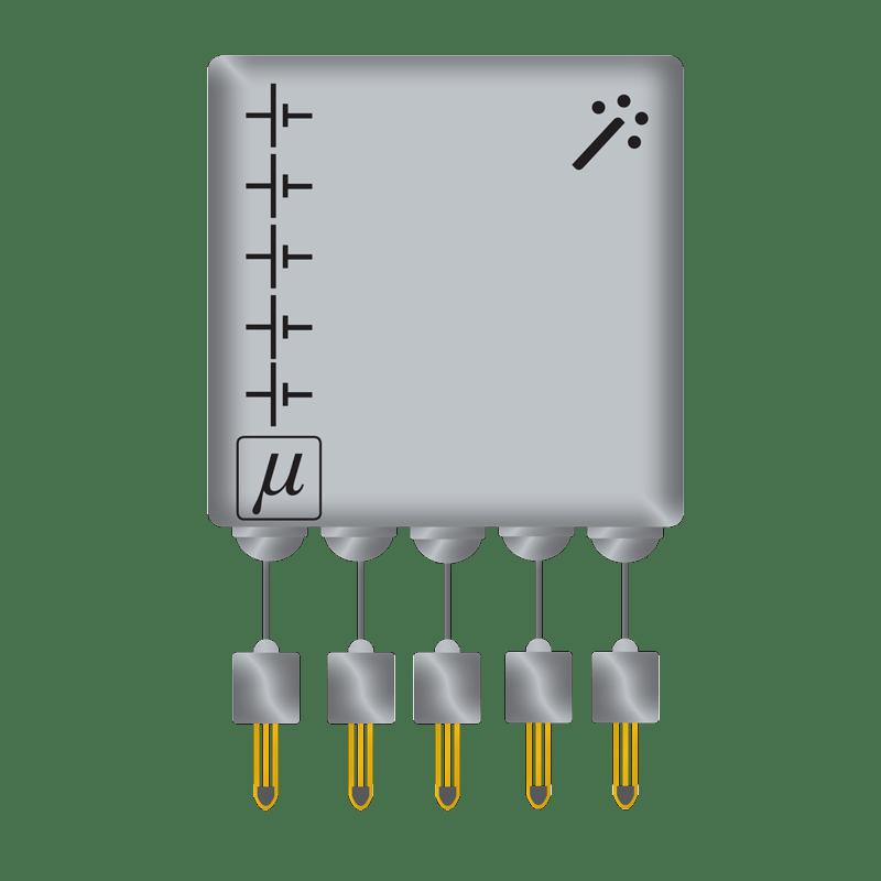 Humidity Sensor Set Single Sensors and Calculation Unit