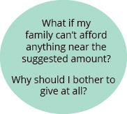 What if my family cant afford anything near the suggested amount