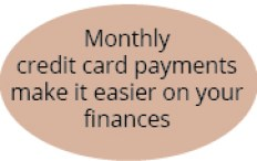 monthly credit card payments make it easier on your finances