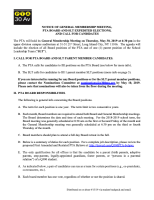 Q300 PTA PTA Board SLT Elections Notice 2019