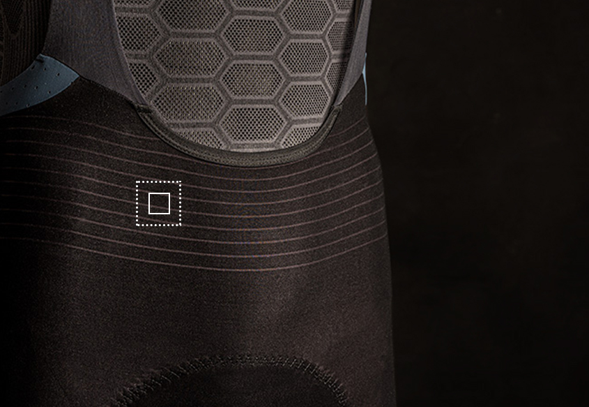 Mens cycling bib shorts Unique - Vented Structure- 001X