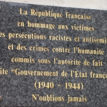 Memorial to the Jewish Population of Troyes