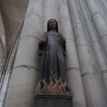 St Odilon de Cluny in the flames at St Urbain Church - Troyes