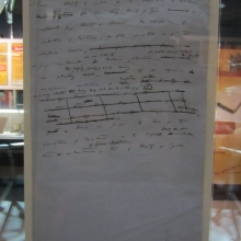 A page from the manuscript for On the Origin of Species