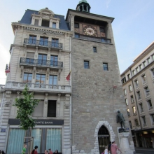 An Old Tower in Downtown Geneva