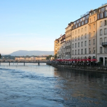 Sunset along the Rhone River