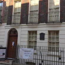 Amb Benjamin Franklin lived here