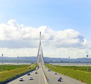 The Normandie Bridge over the Seine near Le Havre