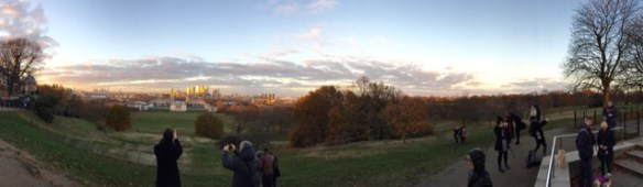 The view from Greenwich Park, London