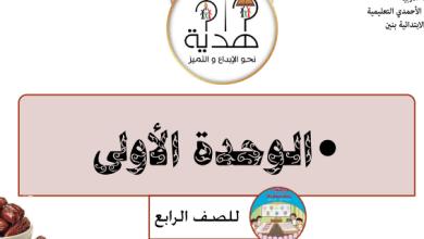 Photo of تحضير رياضيات الوحدة الأولى الصف الرابع مدرسة هدية 2018-2019