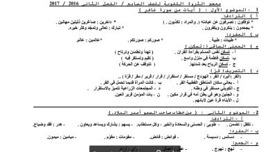 Photo of معجم الثروة اللغوية الصف السابع 2016-2017