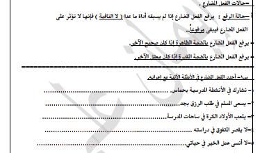 Photo of النحو المقرر للصف السابع لغة عربية رفع الفعل المضارع الفصل الثاني اعداد إيمان علي 2018-2019