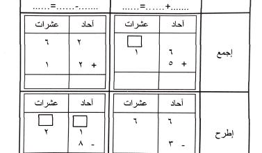Photo of ورقة عمل الوحدة الحادية عشر للصف الأول الفصل الثاني مدرسة الجهراء الأهلية الابتدائية
