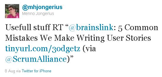 Mój Artykuł o User Stories na Scrum Alliance