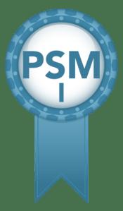 PSM I certificate badge