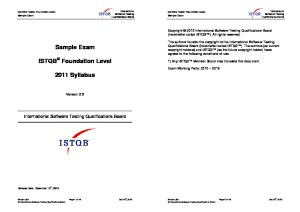 ISTQB Foundation Level Sample Exam V2.6 EN