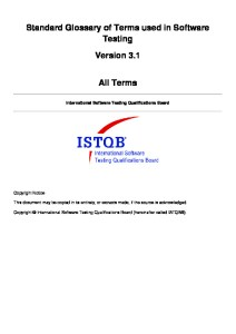 ISTQB Glossary v3.1 All Terms EN
